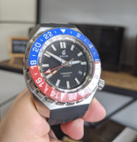 **CLEARANCE** Boldr Globetrotter GMT Blue/Red 80554 - mywristcheck.com