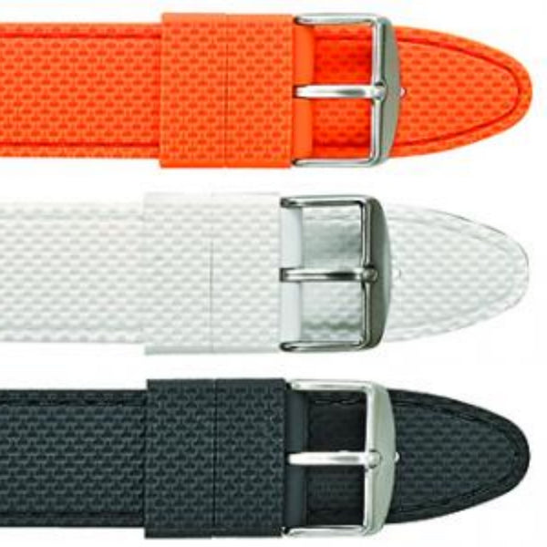 Textured silicone watch strap with stitching #S1900 - mywristcheck.com