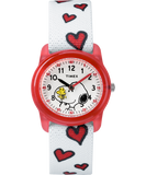 Timex® Peanuts Analog Snoopy Hearts Youth Watch - TW2R416002Y