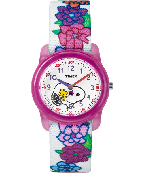 Timex® Peanuts Analog Snoopy Flowers Youth Watch - TW2R417002Y - mywristcheck.com
