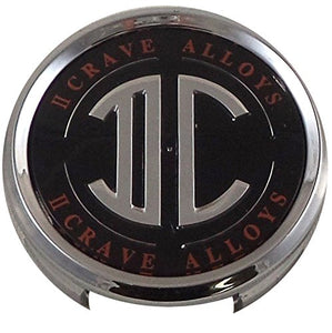 2 Crave Wheels Chrome Lug Wheel Center Caps QTY 2 # pd-cap65-p5149