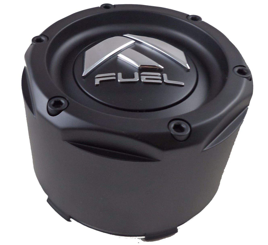 Fuel Matte Black Black Rivets Custom Wheel Center Caps Set of Four (4) 1003-49TMB