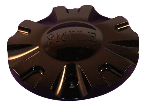 8 Mile Black Custom Wheel Center Cap Set of 4 Pn: C-099-1 S1050-S07C8