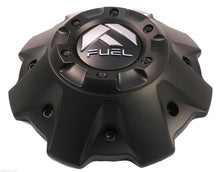 Load image into Gallery viewer, Fuel Wheels Black Flat Black Rivets Custom Center Cap Set of Two (2) # 1001-63B 5-6 LUGGER