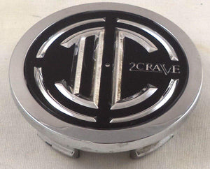 2 Crave Wheels Chrome Lug Wheel Center Caps QTY 2 # 105-C-CAP