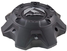 Load image into Gallery viewer, Fuel Matte Black Chrome Rivets Wheel Center Caps (QTY 4) 1002-40, 1002-41