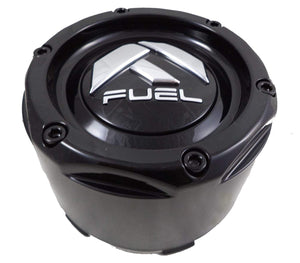 Fuel Gloss Black Rivets Custom Wheel Center Caps Set of One (1) 1003-49TB