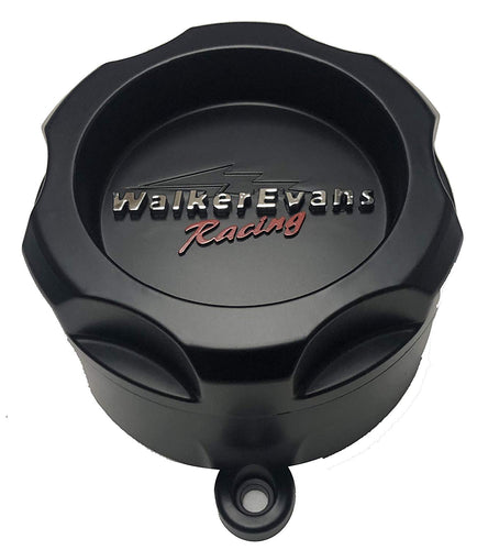 Walker Evans Racing 6 Lug Matte Black Wheel Center Caps Set of 4# WKR-9706SB with Screws