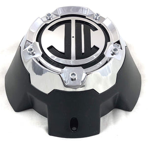 2 Crave 5 LUG Black & Chrome Wheel Center Cap (QTY 4) # NX-5H-D
