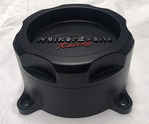 Walker Evans Racing 8 Lug Matte Black Wheel Center Caps Qty 4# WRX-9708SB 62851785F-7 with Screws