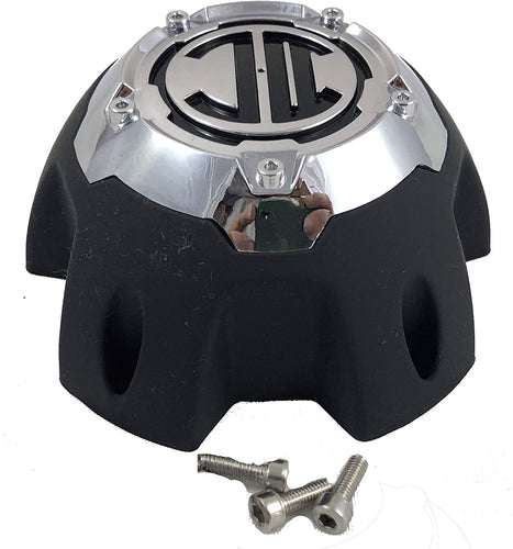 2 Crave 5 LUG Black & Chrome Wheel Center Cap (QTY 4) # NX-5H-E