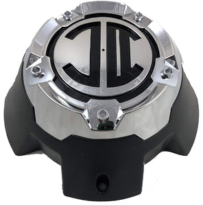 2 Crave 5 LUG Black & Chrome Wheel Center Cap (QTY 1) # NX-5H-D