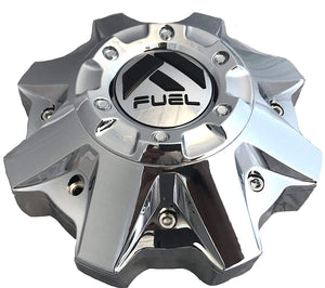 Fuel Chrome Wheel Center Cap (2) 1002-49B, M-447, 1002-53B-1
