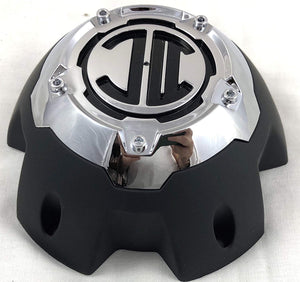 2 Crave 5 LUG Black & Chrome Wheel Center Cap (QTY 1) # NX-5H-C