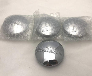 Ultra Motorsports Chrome Wheel Center Cap Set of 4 Pn: 89-9450