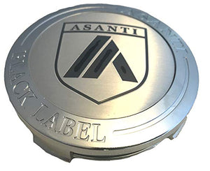 Asanti Black Label Chrome Wheel Center Cap TWO pn: N-ABl, ABLCAP