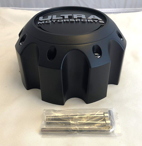 Ultra Motorsports Matte Black Wheel Center Cap (Qty 1) Pn: 89-9782 with Screws