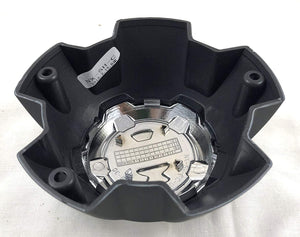 2 Crave 5 LUG Black & Chrome Wheel Center Cap (QTY 2) # NX-5H-C