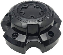 Load image into Gallery viewer, Ultra Motorsports 5 Lug Gloss Black Wheel Center Cap Set of 4 Pn: 89-9855BK with Bolts