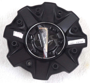 Fuel Gloss Black with Black Rivets Wheel Center Cap Set of Four (4) 1001-79GBR - with Screws