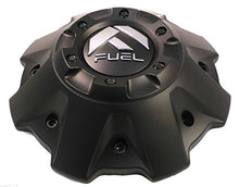 Load image into Gallery viewer, Fuel Wheels Flat Black Black Rivets Custom Center Cap Set of One (1) # 1001-63B 5-6 LUGGER