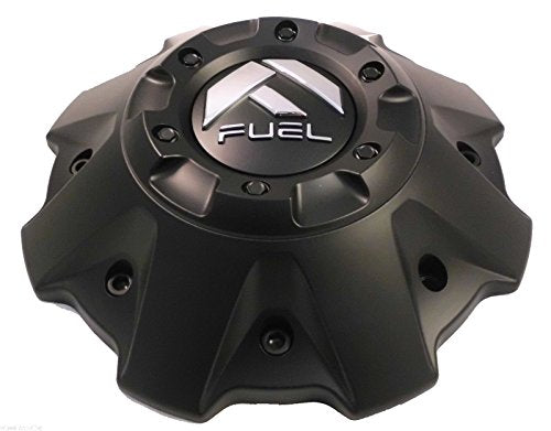 Fuel Wheels Flat Black Black Rivets Custom Center Cap Set of One (1) # 1001-63B 5-6 LUGGER