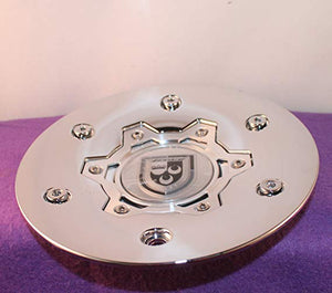 "Lexani Wheels Custom Center Cap Chrome (Set of 1) # 654C01 S807-10-08 C-189-5 LX-2 24"" 26"""