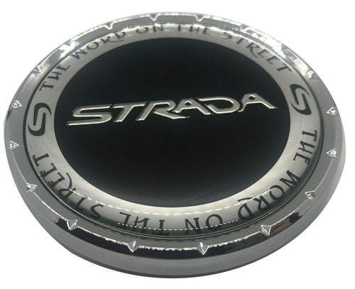 C-1087-4 - Strada Chrome Wheel Center Cap C-STRA-2