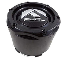 Load image into Gallery viewer, Fuel Black Black Rivets Custom Wheel Center Caps Set of Two (2) 1003-50B