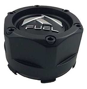 Fuel Matte Black Custom Wheel Center Cap (QTY 2) 1003-48b