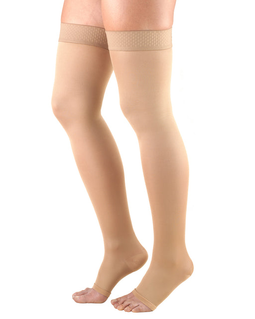 TRUFORM Opaque Thigh High Open Toe 20-30
