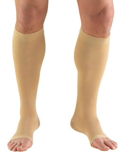 TRUFORM Classic Medical OPEN TOE Knee High Support Stockings 20-30 mmHg