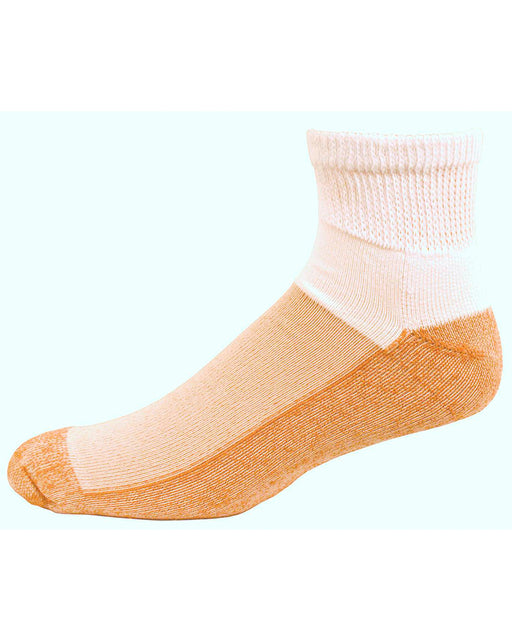 Copper Sole Diabetic Ankle Socks w/ Cupron Antifungul Fibers and Morpul Top