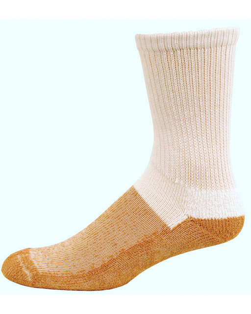 Copper Sole Diabetic Crew Socks w/ Cupron Antifungul Fibers and Morpul Top