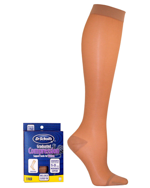Dr. Scholl's Women's Sheer 15-20 mmHg Closed Toe Knee Highs