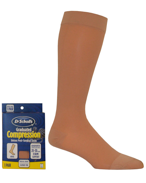 Dr. Scholl's Unisex Surgical Weight Microfiber 20-30 mmHg Closed Toe Knee Highs