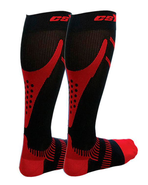 CSX Men's Advanced+ Firm Compression Ultra Run Socks 20-30 Compression