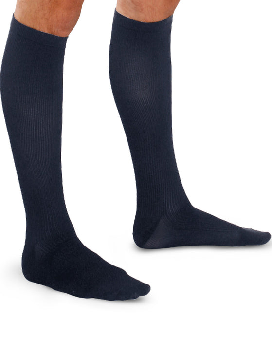 Therafirm Light Men's Ribbed Support Socks 10-15 mmHg