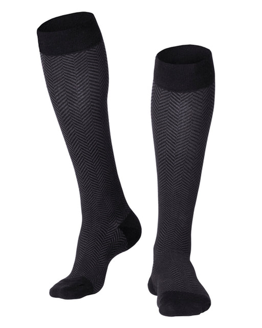 Touch Men's Herringbone Pattern Knee Highs 15-20 mmHg