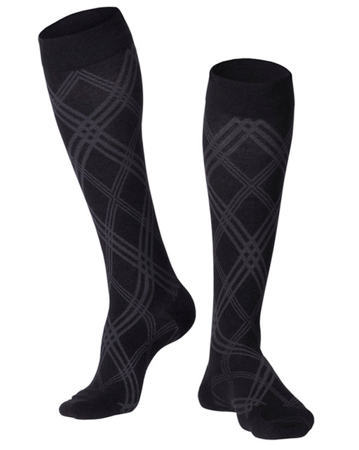 Touch Men's Argyle Pattern Knee Highs 20-30 mmHg