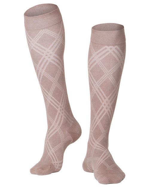 Touch Men's Argyle Pattern Knee Highs 15-20 mmHg