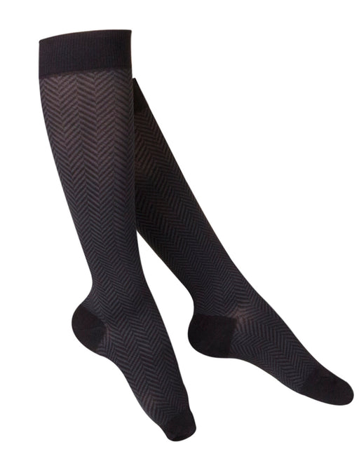 Touch Ladies' Herringbone Pattern Knee Highs 20-30 mmHg