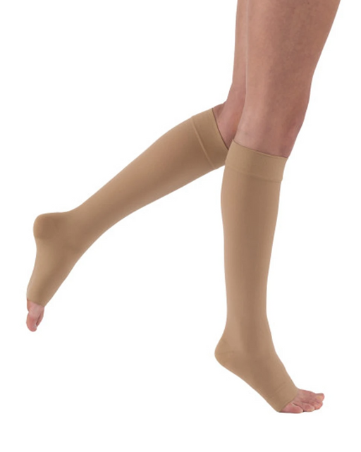 Jobst Relief OPEN TOE Knee Highs Unisex 20-30 mmHg-PETITE