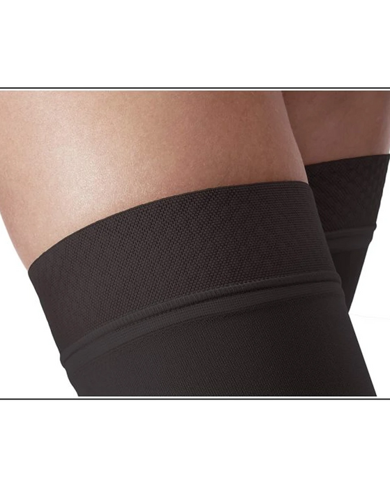 Jobst Relief Thigh Highs Closed Toe with Silicone Top Band 15-20 mmHg