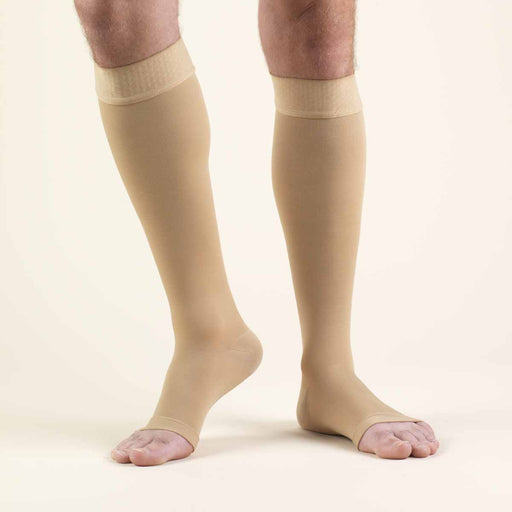 Second Skin Classic Medical Open Toe 20-30 mmHg Knee High Silicone Dot Top