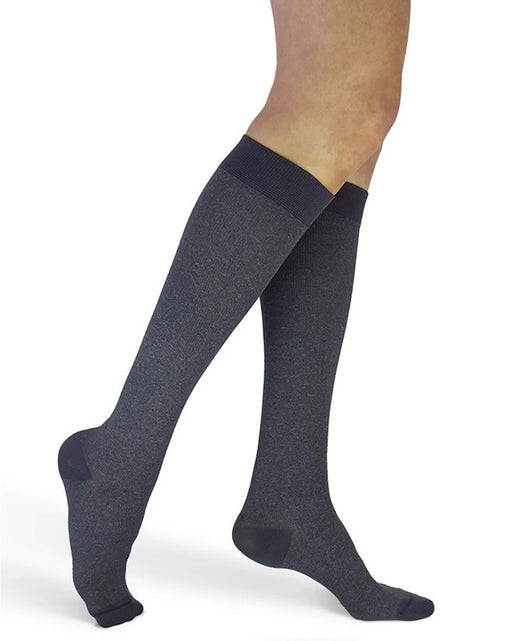 Sigvaris 143C Microfiber Shades Graphite Heather Women's Closed Toe Knee Highs 15-20 mmHg