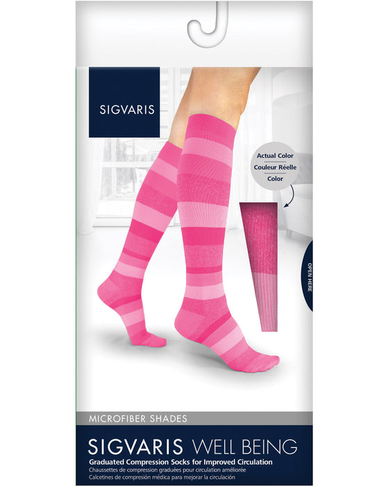 Sigvaris 143C Microfiber Shades Women's Closed Toe Knee Highs 15-20 mmHg