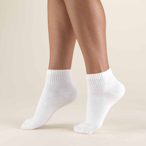 Second Skin 8-15 mmHg Soft Diabetic Mini-Crew Length Socks