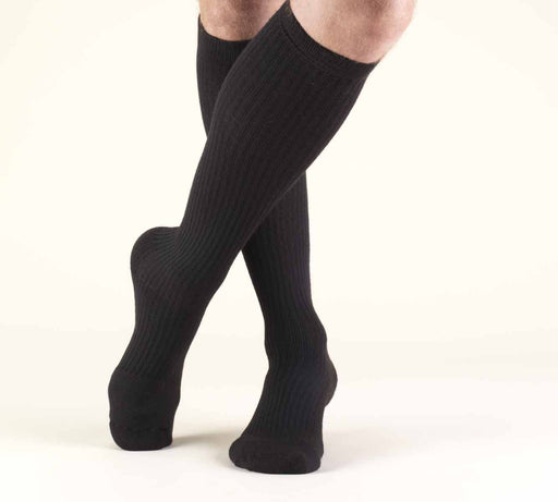 Second Skin Men's 15-20 mmHg Casual and Athletic Knee High Socks