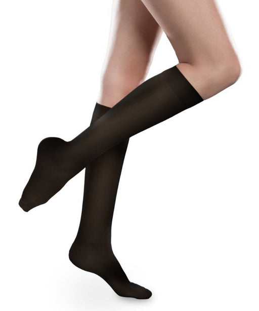Therafirm Sheer Ease Women's Closed Toe Knee High Stockings 15-20mmHg